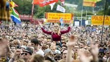 Crowds at Glastonbury.