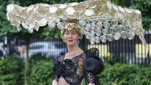 Racegoer Larisa Katz during Ladies' Day at Royal Ascot