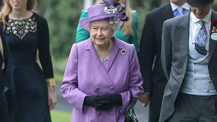 Queen Elizabeth II during Ladies' Day at Royal Ascot