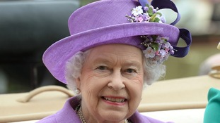 Queen Elizabeth II pictured attending Ladies Day at Royal Ascot 2013