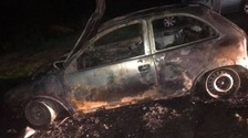 Dramatic pictures show burnt out shells of cars in Gateshead