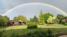 A rainbow in Barton-le-Clay near Luton