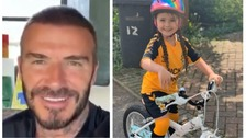 Beckham's message of support for Hertfordshire girl's bike rides