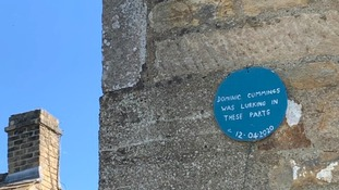 'Dominic Cummings Was Lurking Here': Barnard Castle joke blue plaque pokes fun at alleged visit