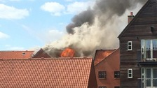 Fire crews called to blaze in Norwich