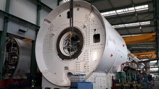 A Tunnel Boring Machine being constructed