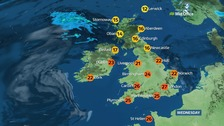 High pressure will dominate the UK today bringing settled and sunny weather to many.