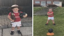 Four-year-old boy delights with Welsh rugby star impressions