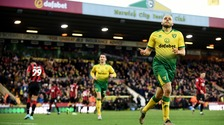 Teemu Pukki celebrates scoring for Norwich City earlier this season.