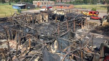 Photo of the aftermath of the blaze at the school