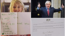 Prime Minister writes personal letter of thanks to Cumbrian girl