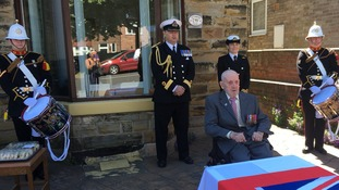 Fanfare for WW2 veteran given medals after robbers took his old ones