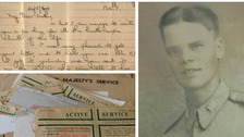 Soldier's letter home finally delivered 80 years after he died near Dunkirk