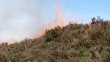 Fire crews battle 'large fire' on top of the Wrekin