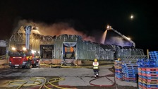 Firefighters still at scene of large crisp factory fire