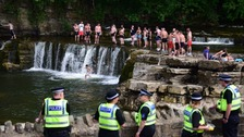Richmond Falls busy all weekend as police try to encourage social distancing