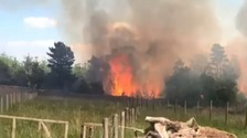 Miles of forest destroyed as crews tackle huge fires in Lancashire