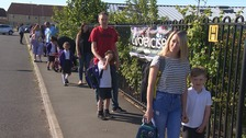 'The most precious things in their parents' lives': Mixed emotions as schools reopen
