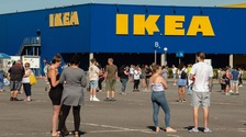 WATCH: Large queues as IKEA reopens in Birmingham and Nottingham