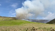 Fire breaks out at Dovestone Reservoir on Saddleworth Moor