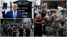 Trump appears to back away from military threat against protesters