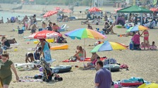 Clacton beach in summer 2018.