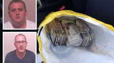 Drugs couriers caught with two kilos of cocaine and £26k cash in North East