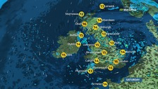 Heavy showers in parts and windy with sunny spells elsewhere