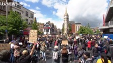 Hundreds turn out for Black Lives Matter protest in Leicester