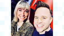 Olly Murs and Molly Hocking pictured on The Voice UK 2019