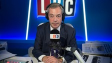 The Brexit Party leader had been a regular presenter on the station since January 2017.