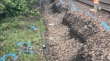 Network Rail discovered the landslip during routine maintenance inspections