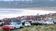 Lockdown warning after mass brawl and large crowds at beach
