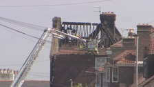 Fire rips through roof of flats in Southsea