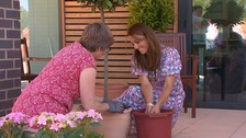Kate helps plant a special garden for Norfolk children's hospice