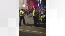 Police attacked in Liverpool as celebrations turn violent