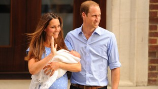 The Duke and Duchess of Cambridge leave hospital