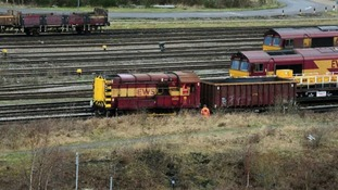 General view of Toton sidings at Nottingham where the train is set to run through.