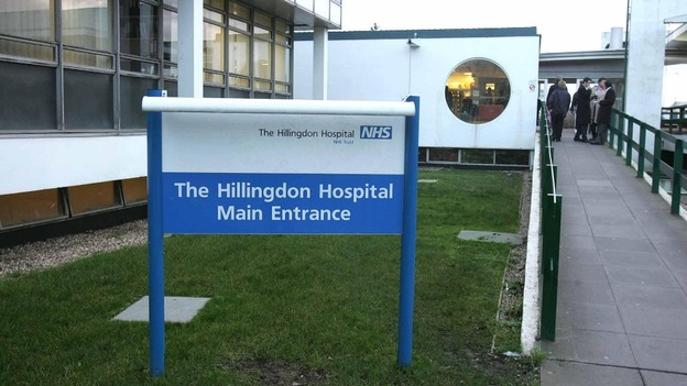 Image result for A&E reception at Hillingdon Hospital