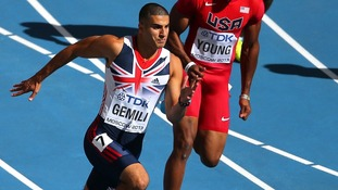 Great Britain's Adam Gemili on the way to winning his 200 metre heat at the 2013 IAAF World Athletics Championships in Moscow