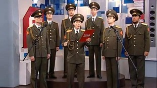Russian army choir performs Skyfall live on TV