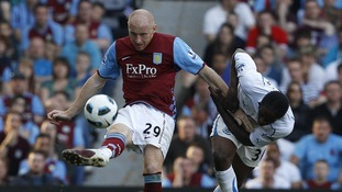 Aston Villa player James Collins has apologised for his actions.