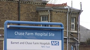Chase Farm Hospital in north London