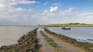 The causeway leading to Northey Island