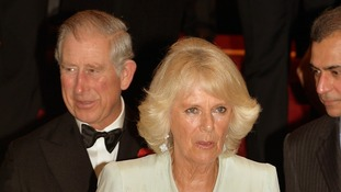 The Prince of Wales and the Duchess of Cornwall at the black tie fundraiser.