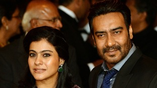 Bollywood film star Ajay Devgan, pictured with his wife Kajol, performed at the event.