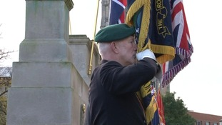 Paying tribute on Remembrance Sunday