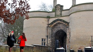 The gatehouse entrance to Nottingham Castle