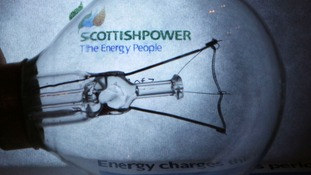 A ScottishPower bill with a light bulb in front.