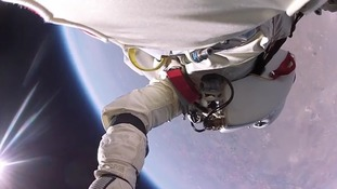 See a world record skydive through the daredevil's eyes